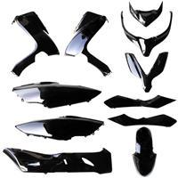 【訳あり】「サイドアンダーカバー左なし」フォルツァX/Z MF10 外装11点セット ブラック