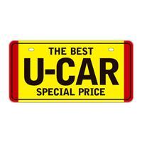 ナンバープレート THE BEST U-CAR 黄