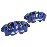 【受注生産品】鍛造モノブロック ストリートブレーキキャリパー PZ004 左右セット 108ミリピッチ ブルー(塗装)