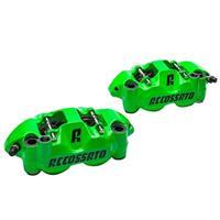 【受注生産品】鍛造モノブロック ストリートブレーキキャリパー PZ004 左右セット 108ミリピッチ グリーン(塗装)