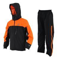ライダーズレインウェア ブラック/オレンジ Lサイズ