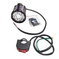 フォグランプ (バイク補助灯 LEDワークライト) ブラック