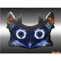PCX125/150 プロジェクターヘッドライト ホワイト/ブルー