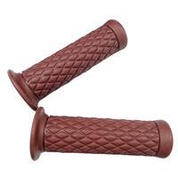 PVC製 非貫通ダイヤモンドパターングリップ 120mm ブラウン