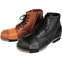 Zip Up Work Boots 25.0 ブラック
