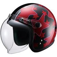 RIDEZヘルメット JB P-STAR BK/RD(57-60cm)