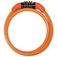 ダイヤルワイヤー錠 JC-029W オレンジ
