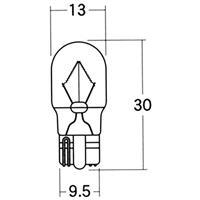 【1個売り】BWB51OR 12V15W ウエッジ中(W2.1×9.5d) オレンジ