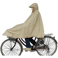 D-3POMT 自転車屋さんのポンチョ 水玉ベージュ