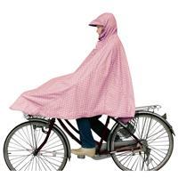 D-3POMT 自転車屋さんのポンチョ 水玉ピンク
