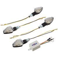 219-5132 ウインカーランプSET MAT ブラック LED 4個・リレー付