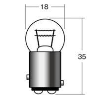 【ケース売り】ウインカーポジション球 B-5404 12V18/5W