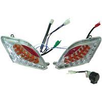 シグナスX/SR SE44J LEDポジションウィンカーライト クリア ブルー/レッド
